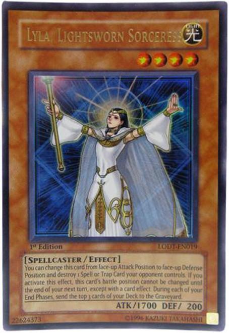 YuGiOh GX Trading Card Game Light of Destruction Ultra Rare Lyla, Lightsworn Sorceress LODT-EN019