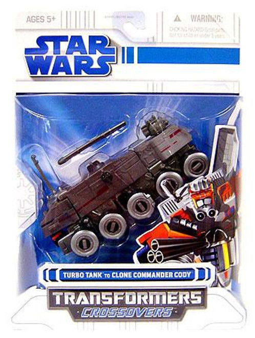 Star Wars Revenge of the Sith Transformers Crossovers 2008 Turbo Tank to Clone Commander Cody Action Figure
