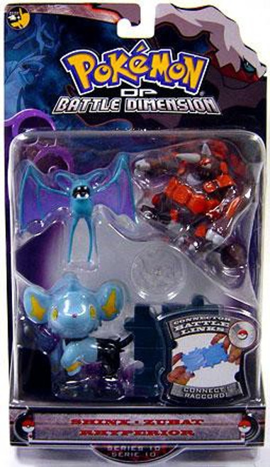 Pokemon Diamond & Pearl Series 10 Shinx, Zubat & Rhyperior Figure 3-Pack
