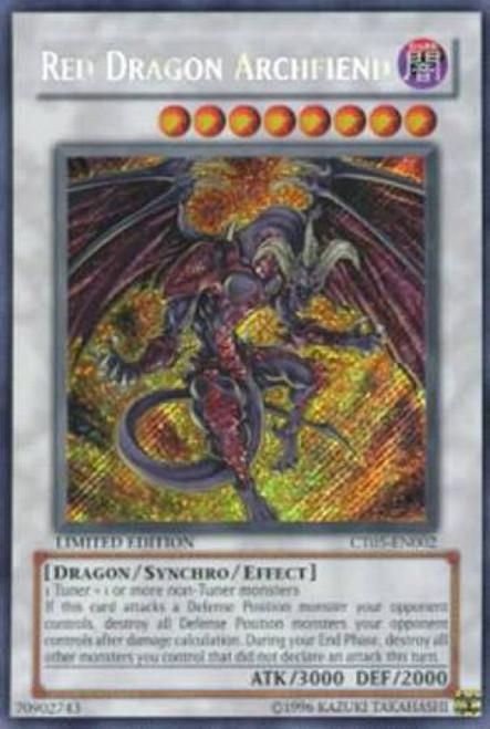 YuGiOh YuGiOh 5D's 2008 Holiday Tin Secret Rare Red Dragon Archfiend CT05-EN002