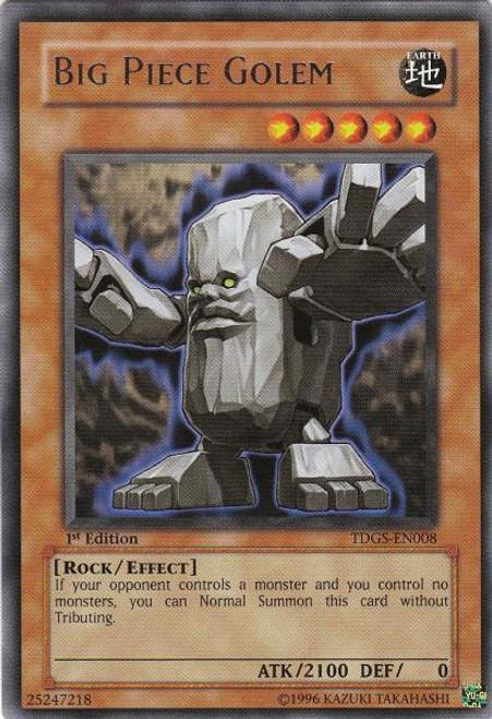 YuGiOh The Duelist Genesis Rare Big Piece Golem TDGS-EN008