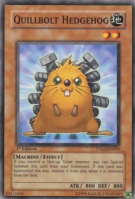 YuGiOh The Duelist Genesis Common Quillbolt Hedgehog TDGS-EN003