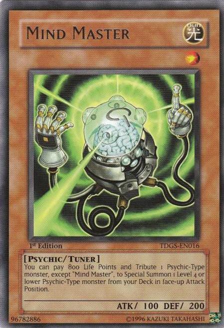 YuGiOh The Duelist Genesis Rare Mind Master TDGS-EN016
