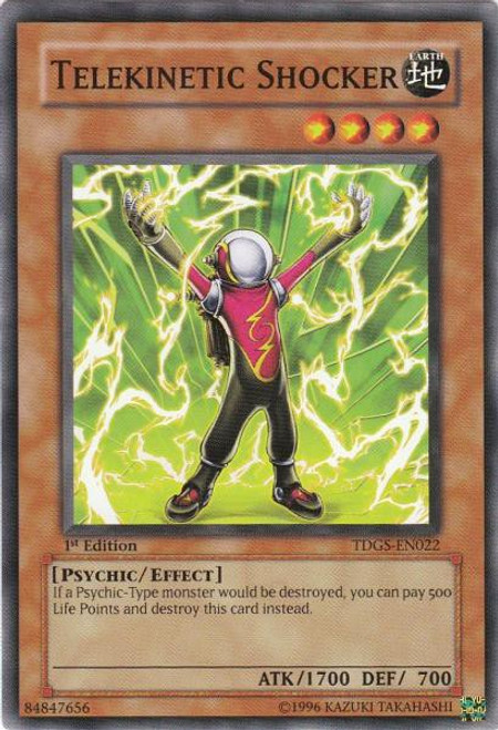 YuGiOh The Duelist Genesis Common Telekinetic Shocker TDGS-EN022