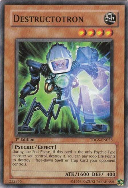 YuGiOh The Duelist Genesis Common Destructotron TDGS-EN023