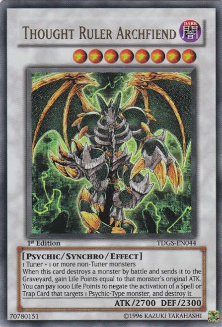 YuGiOh The Duelist Genesis Ultra Rare Thought Ruler Archfiend TDGS-EN044
