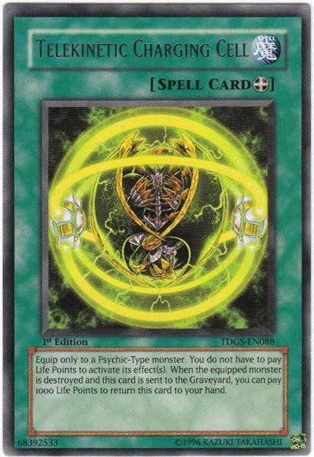 YuGiOh The Duelist Genesis Rare Telekinetic Charging Cell TDGS-EN088