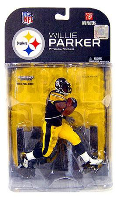 McFarlane Toys NFL Pittsburgh Steelers Sports Picks Series 17 Willie Parker Action Figure [Black Wrist Tape Variant]