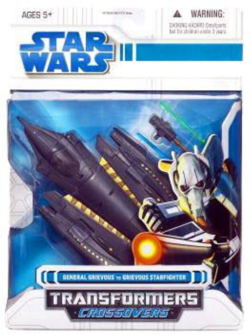 Star Wars Revenge of the Sith Transformers Crossovers 2008 General Grievous to Grievous Starfighter Action Figure