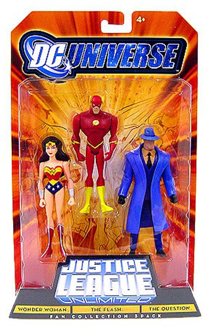 DC Universe Justice League Unlimited Fan Collection Wonder Woman, The Flash & The Question Action Figure 3-Pack