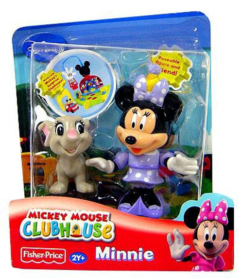 Fisher Price Disney Mickey Mouse Clubhouse Minnie with Elephant Figure 2-Pack