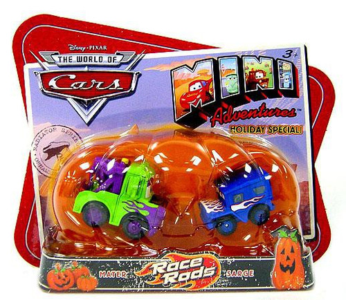 Disney / Pixar Cars The World of Cars Mini Adventures Race Rods Exclusive Plastic Car 2-Pack [Mater & Sarge]