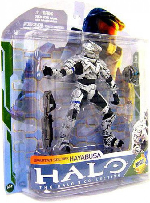 McFarlane Toys Halo 3 Series 5 Spartan Soldier Hayabusa Action Figure [White]