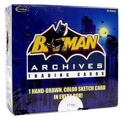 Batman Archives Trading Card Box [24 Packs, 1 Hand Drawn Sketch Card!]