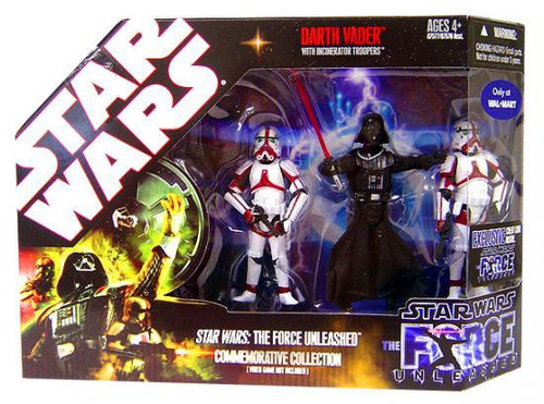 Star Wars Force Unleashed 2008 Darth Vader Commemorative Collection Exclusive Action Figure Set