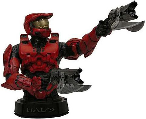 Halo 3 Red Spartan Mini Bust