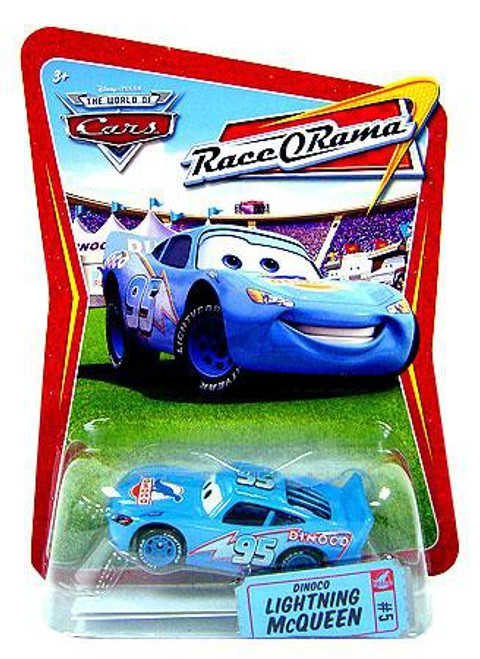 Disney / Pixar Cars The World of Cars Race-O-Rama Dinoco Lightning McQueen Diecast Car #5
