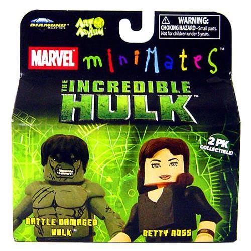 Marvel Minimates The Incredible Hulk Battle Damaged Hulk & Betty Ross Minifigure 2-Pack