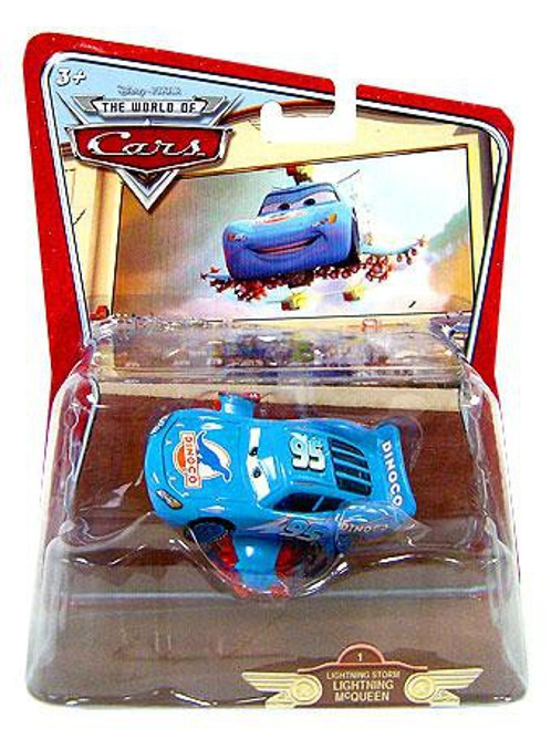 Disney / Pixar Cars The World of Cars Deluxe Oversized Lightning Storm McQueen Diecast Car #1 [RANDOM Package]