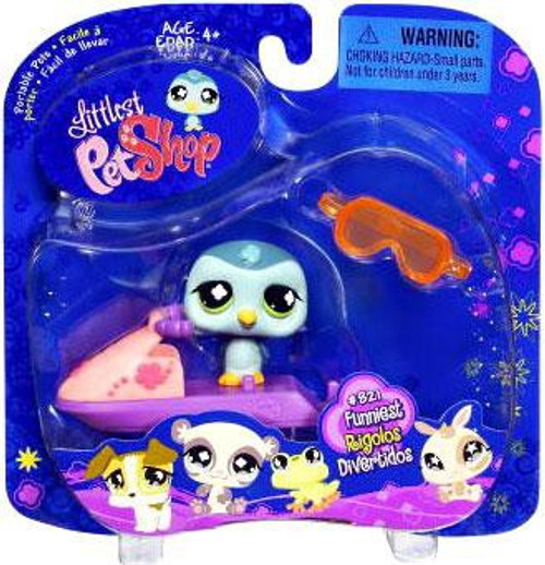 Littlest Pet Shop 2009 Assortment B Series 1 Penguin Figure #821 [Jet Ski]
