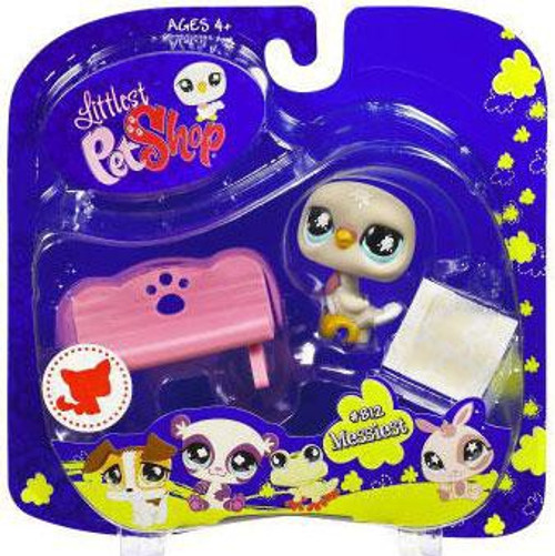 Littlest Pet Shop 2009 Assortment A Series 2 Pigeon Figure #812 [Bench]