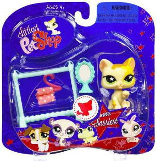 Littlest Pet Shop 2009 Assortment B Series 2 Cat Figure #832 [Clothes Rack & Mirror]