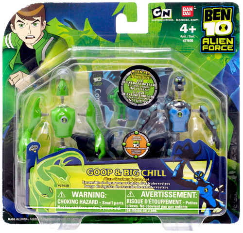 Ben 10 Alien Force Alien Creation Chamber Goop & Big Chill Mini Figure 2-Pack