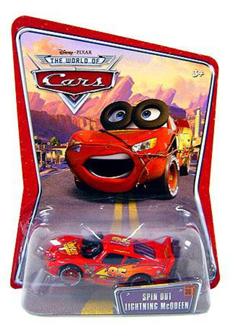 Disney / Pixar Cars The World of Cars Spin Out Lightning McQueen Diecast Car