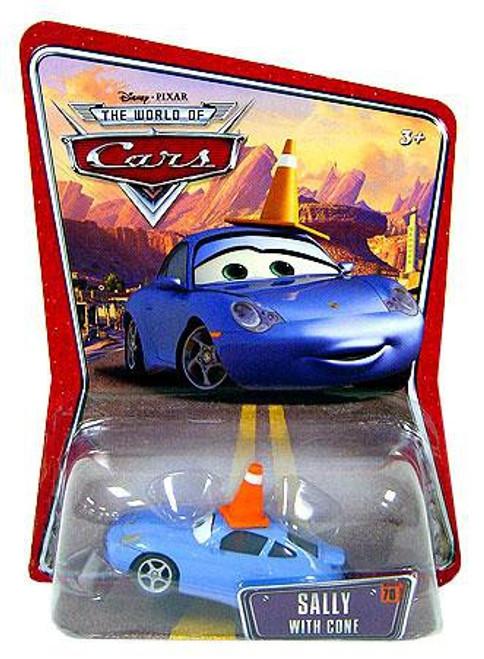 Disney / Pixar Cars The World of Cars Series 1 Sally with Cone Diecast Car