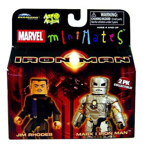 Marvel Minimates Iron Man Movie Jim Rhodes & Mark I Iron Man Minifigure 2-Pack