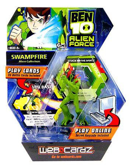 Ben 10 Alien Force Web Cardz Swampfire Starter Set