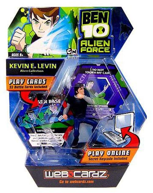 Ben 10 Alien Force Web Cardz Kevin E. Levin Starter Set