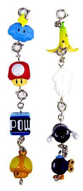 Super Mario Mario Kart Wii Set of 8 Charms