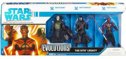Star Wars Phantom Menace 2008 Legacy Collection Evolutions The Sith Legacy Action Figure 3-Pack [Darth Bane, Darth Maul & Darth Nihilus]