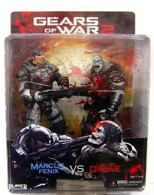 NECA Gears of War Marcus Fenix & Locust Drone Action Figure 2-Pack