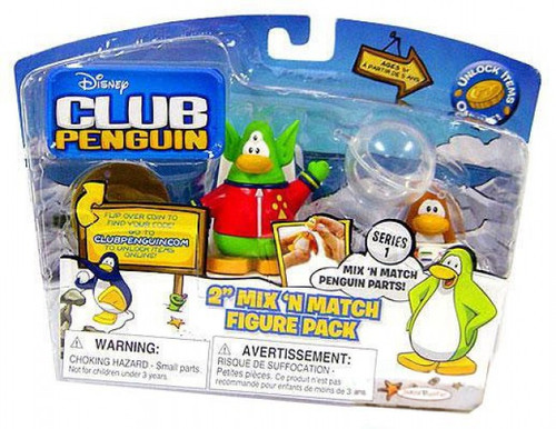 Club Penguin Mix 'N Match Series 1 Space Alien & Spaceman Mini Figure Set
