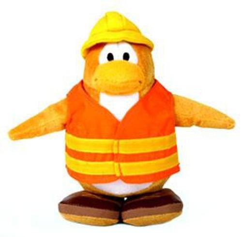 Club Penguin Construction Worker 6.5-Inch Plush Figure