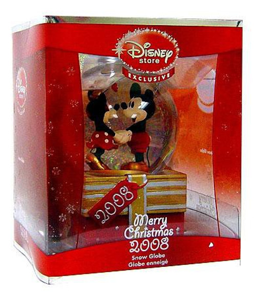 Disney 2008 Mickey Mouse & Minnie Mouse Exclusive Snow Globe