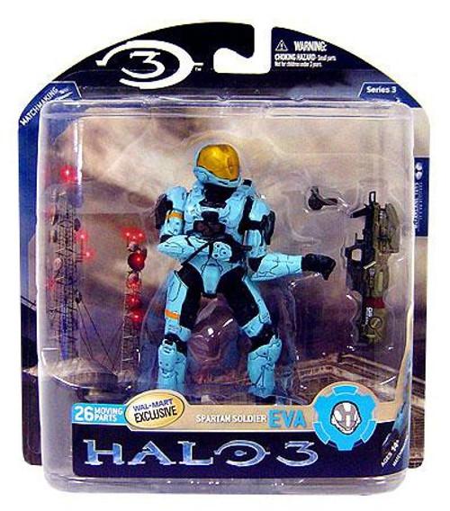 McFarlane Toys Halo 3 Series 3 Spartan Soldier EVA Exclusive Action Figure [Cyan]
