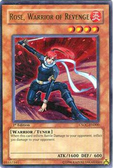 YuGiOh Crossroads of Chaos Ultra Rare Rose Warrior of Revenge CSOC-EN000