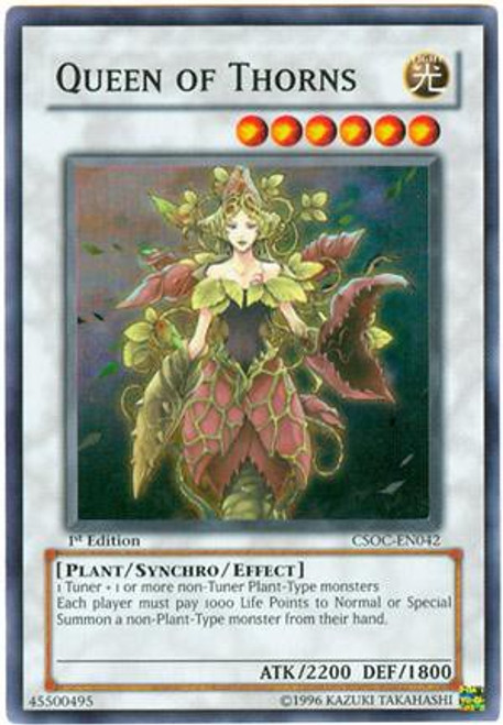 YuGiOh Crossroads of Chaos Super Rare Queen of Thorns CSOC-EN042