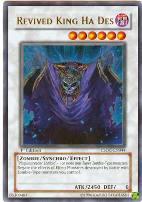 YuGiOh Crossroads of Chaos Ultra Rare Revived King Ha Des CSOC-EN044