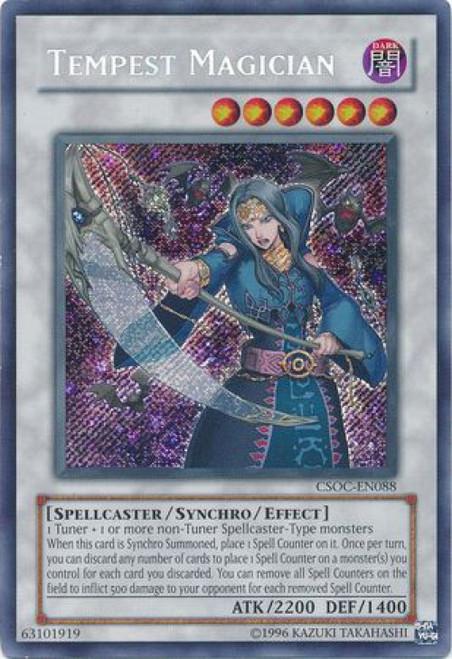 YuGiOh Crossroads of Chaos Secret Rare Tempest Magician CSOC-EN088
