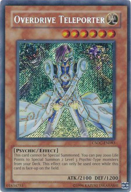 YuGiOh Crossroads of Chaos Secret Rare Overdrive Teleporter CSOC-EN083
