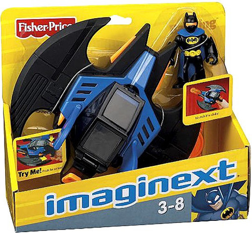 Fisher Price DC Super Friends Imaginext Batwing 3-Inch Figure Set