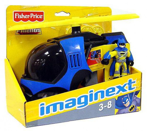 Fisher Price DC Super Friends Imaginext Batcopter 3-Inch Figure Set [Yellow Suit Batman]