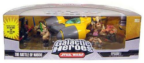 Star Wars Phantom Menace Galactic Heroes Cinema Scenes The Battle of Naboo Exclusive Mini Figure Set