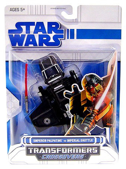 Star Wars Return of the Jedi Transformers Crossovers 2008 Emperor Palpatine to Imperial Shuttle Action Figure