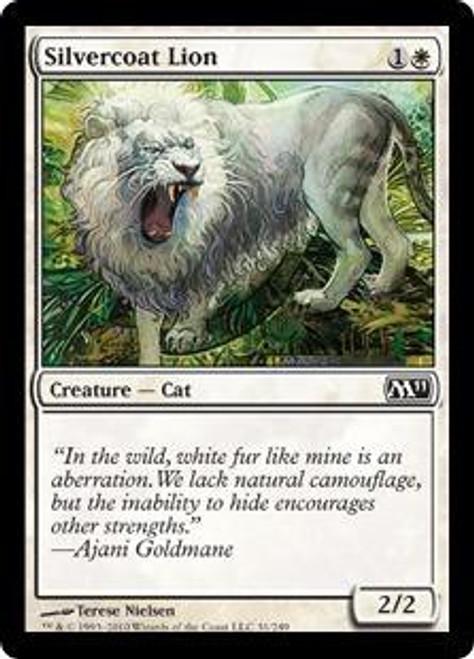 MtG 2011 Core Set Common Silvercoat Lion #31