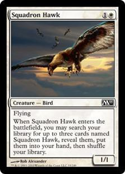 MtG 2011 Core Set Common Squadron Hawk #33